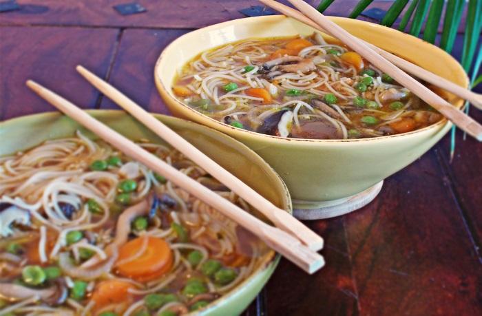 Shiitake Austernpilz Suppe