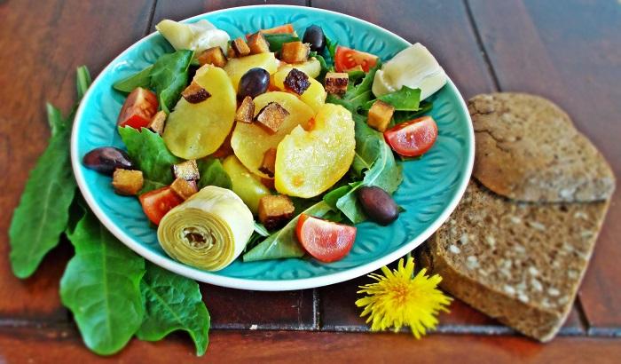 Löwenzahn Salat à la provençale